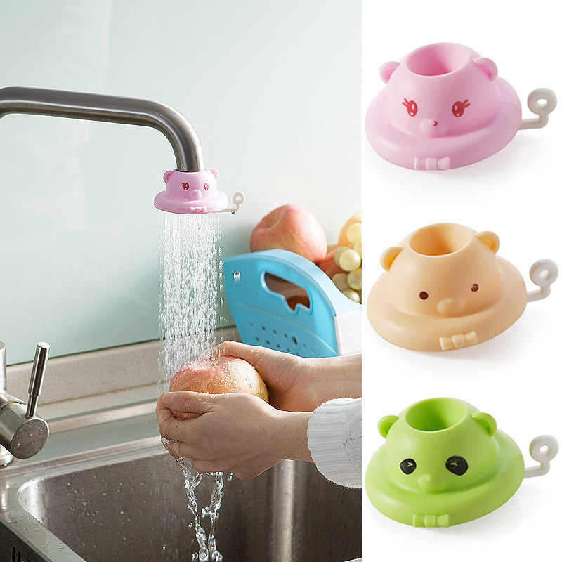 Sale 1PC Cute Faucet Extender For Toddler Kids Hand Washing kitchen bathroom splash nozzle shower tap water filter
