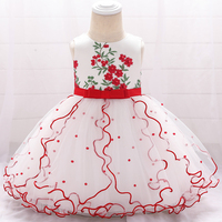 caf3397ec ... niña vestidos cumpleaños bautismo princesa Floral niños vestido  L1897XZ. Beaded Embroidered Flower Tutu Lace New Born Baby Girl Dresses  Birthday Baptism ...
