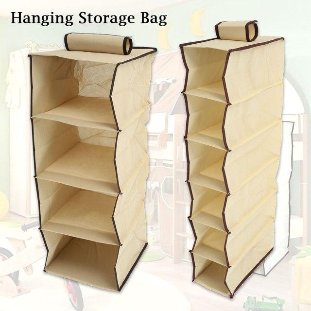 Wardrobe Hanging Storage Bag Clothes Hangers Holder Portable Organizer Hang Hanging Closet Organizer