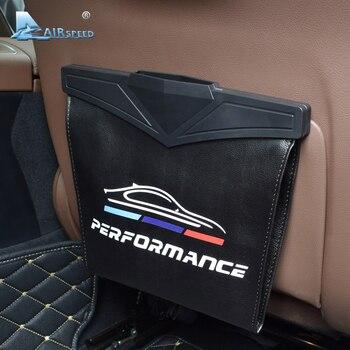 Airspeed Leather Car Seat Storage Bag Trash Bag Basket for BMW E46 E90 E60 E39 F30 E36 F10 E30 F20 E87 E92 E34 G30 Accessories