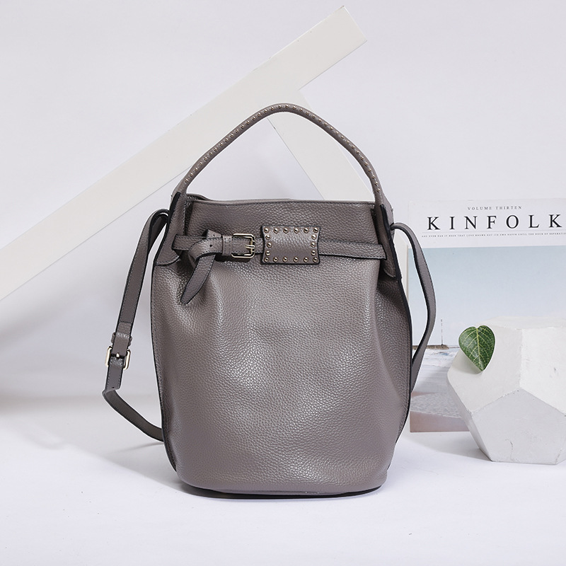New Genuine Leather Large Tote Bucket Bags Women Crossbody bags for female Fashion Shoulder Messenger Bag Luxury Ladies Handbags genuine leather women bag fashion large crossbody bags for women shoulder bag luxury female tote bucket bags handbags sac a main