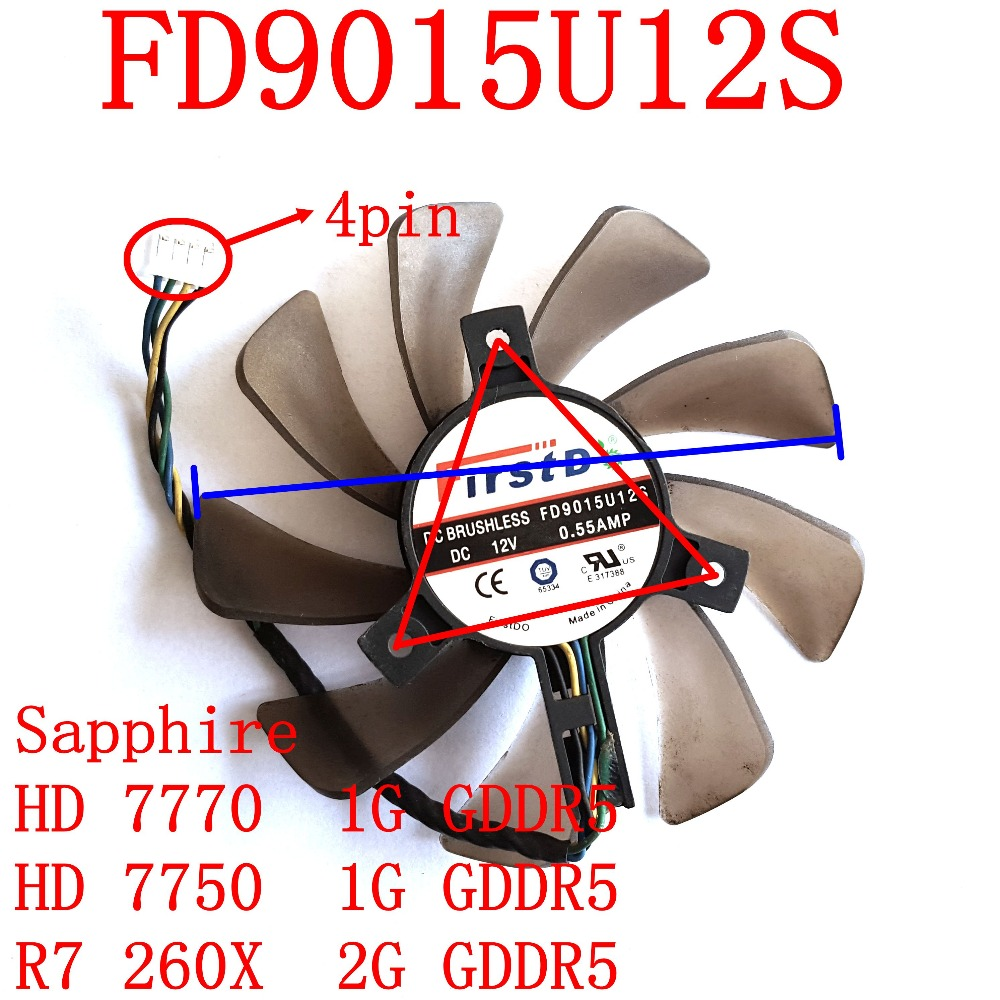 Free Shipping FirstD FD9015U12S 4pin 85mm 39x39x39mm 0.55A for Sapphire HD7770 77501G GDDR5 R7 260X 2G GDDR5 graphics card fan r7 250 240 gpu vga cooler video card fan for sapphire r7 250 2g d5 r7 240 2g d3 graphics cooling