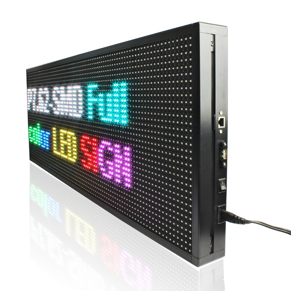 Image 5 - 135*71cm P5 Outdoor High Brightness RGB Full color video Led display board LAN input SMD Led waterproof signboard-in LED Displays from Electronic Components & Supplies