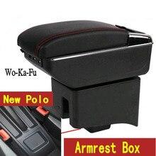 Для Поло подлокотник коробка поло V Универсальный 2009-2018 Автомобильный Центр консоль Модификация аксессуары двойной поднятый с USB