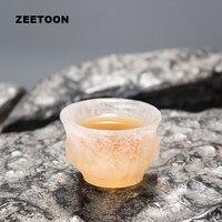 40 ml Geada Boutique Japonês Mestre de Vidro Colorido Esmalte Xícara de chá-resistente ao Calor Copo De Vidro Copo de Chá Conjuntos de Chá Tigela Decoração de casa