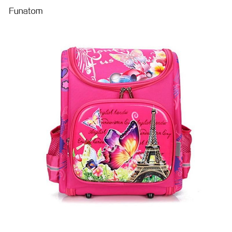 2018 Водонепроницаемый для девочек школьные сумки для мальчиков ортопедические бабочки дети рюкзак сумка Randoseru школьный рюкзак