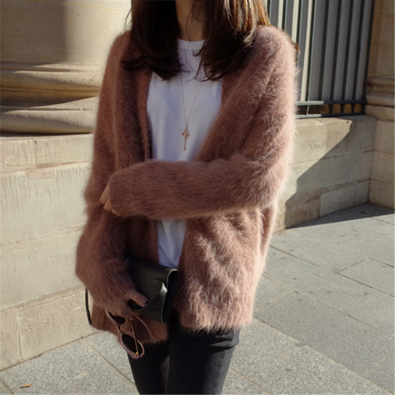 All Sizes BNWT Womens Dusky Pink Super Soft Faux Fur Coat with Pockets