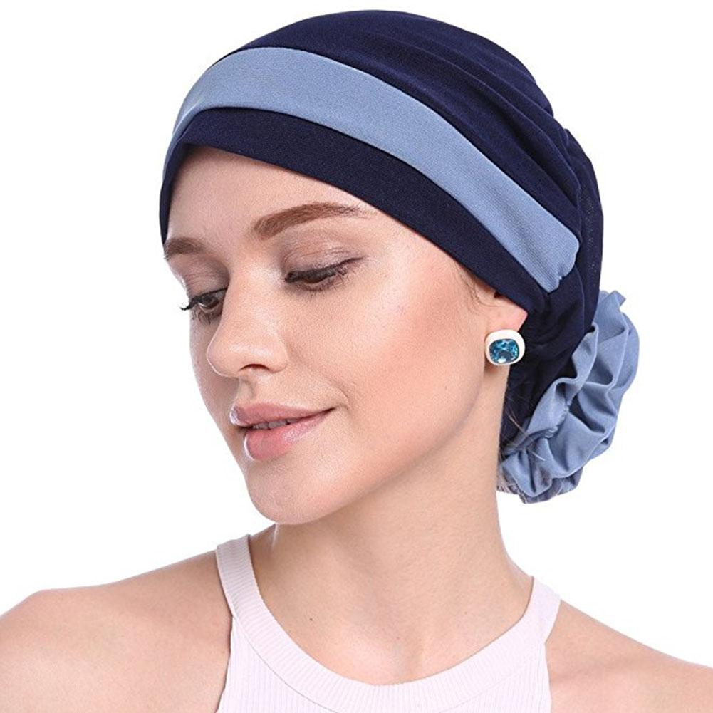 Flower Caps Headscarf Women Hair Loss Cap Turban Hat Cancer Elastic Fashion Chemo Hot Drilling Head Wrap Soft Comfortable