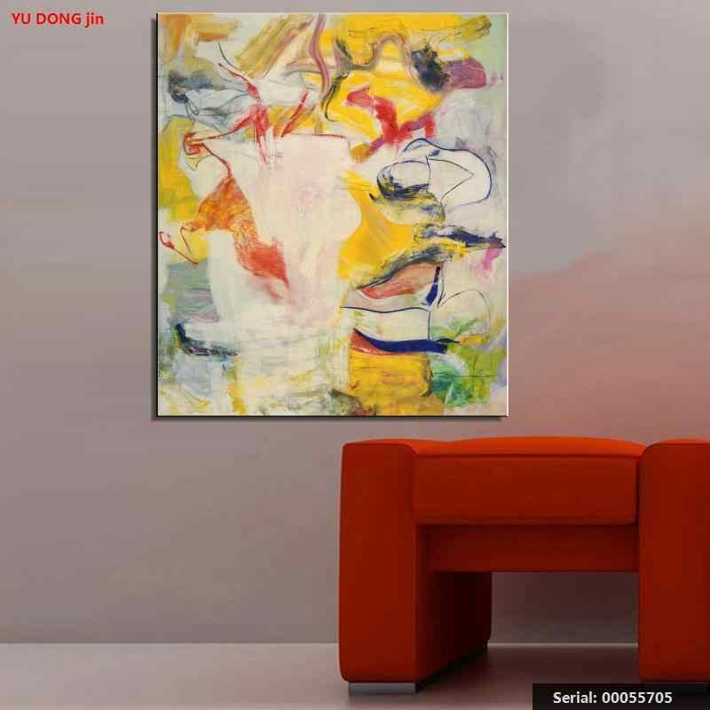 William de Kooning nature morte classique peinture à l'huile dessin art Spray sans cadre toile action design miniature brass00055705