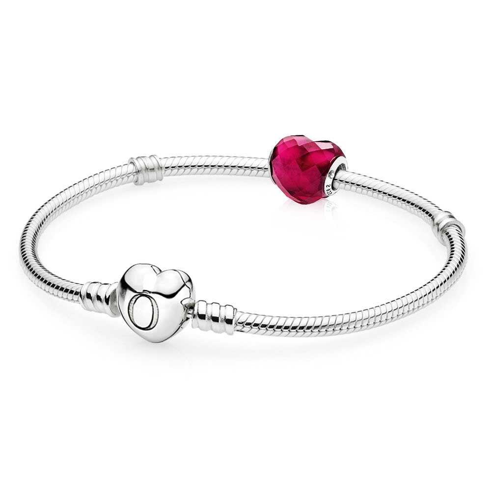 100% стерлингового серебра 925 Форма любви браслет подарочный набор узнать больше Fit DI ...