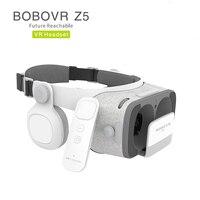 בובו Bobovr Z5 קסדה VR תיבת משקפיים מציאות מדומה 3 D 3d משקפי מגן אוזניות קסדת חכמים חכמים Google טלפון קרטון
