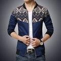 O envio gratuito de modelos explosão de 2015men Jaquetas Magros dos homens bolso grande jaqueta de beisebol