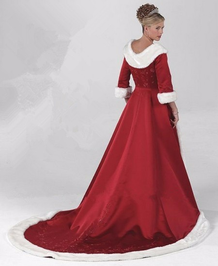 Top-Selling-Red-White-Faux-Fur-Edge-Satin-Winter-Wedding-Coat-With-3-4-Sleeves-Long (1)