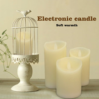 3 Pcs Set Electronic Flickering Flameless LED Candle Flicker Dancing Battery Wax Tea Candles Safe Lamp