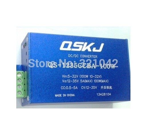 QS-1235CCBA-100 DC-DC 5-32V to 12-35V 100W Step-up Boost Power Supply Module LED Driver