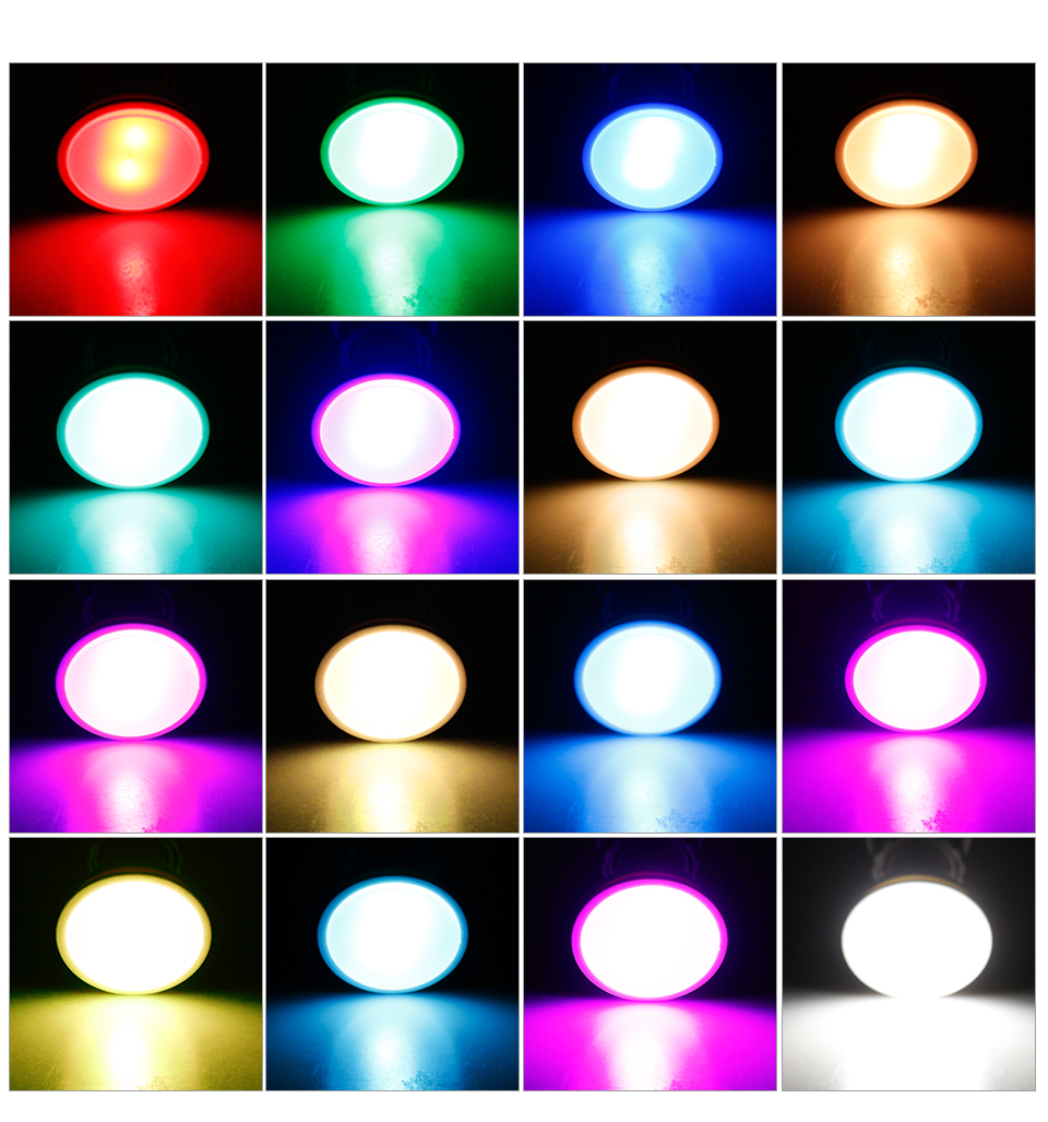 Magic RGB LED Light Bulb GU10 E27 AC85-265V Smart Lighting Lamp Color Change Dimmable With IR Remote Controller 5W 10W 15W Light (11)