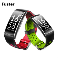 IP68 Professional Waterproof Summer Swimming Fitness Smart Bracelet Double Colors Fashion Strap Pedometer Calories Pulse Tracker
