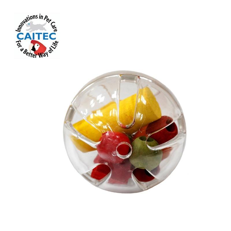 CAITEC собака и попугай игрушки шарик для корма жесткий шар прочный подкормка и жевание игрушки для собак птица и для попугаев, для кусания уст...