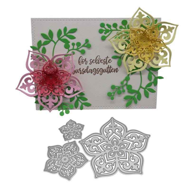 DIY Flowers Metal Cutting Dies Stencil Scrapbooking Paper Card Embossing Craft