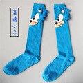 1 pares/lote personalidade casal meias meias de algodão dos desenhos animados do sonic costurado à mão homens e mulheres meias Harajuku Cânhamo Masculino Meias meias