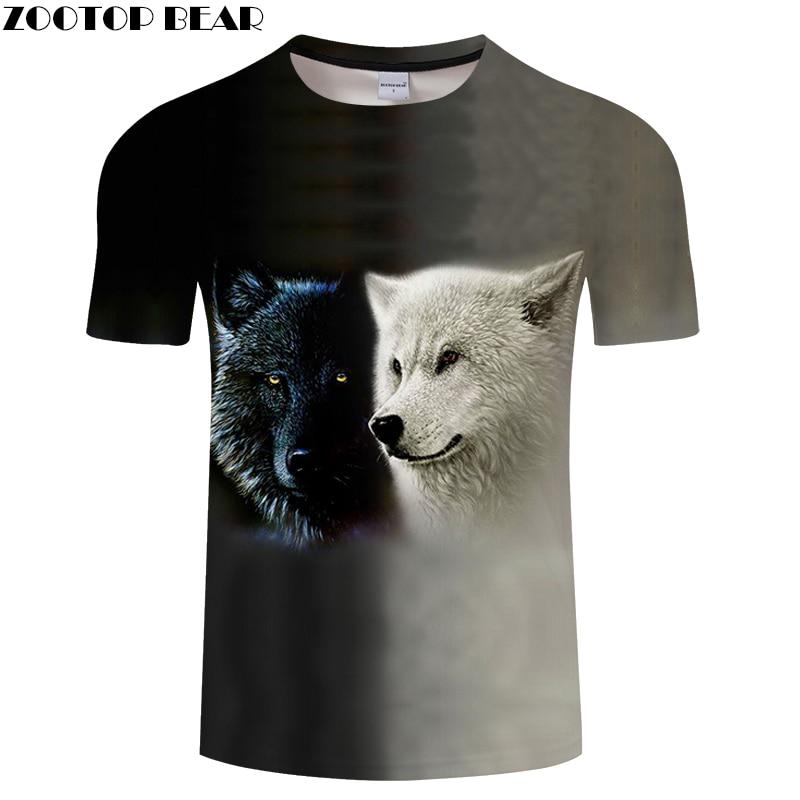 Grey tshirt Wolf t shirt Men Women 3D T-shirt Casual Tee Streatwear Top Harajuku Camiseta Short Sleeve Print DropShip ZOOTOPBEAR