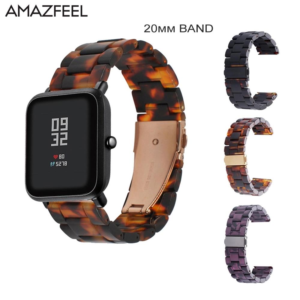 20 milímetros Resina Relógio Cinta Para Huami Amazônia Bip Strap Pulseira para Samsung Galaxy Ativo Garmin Forerunner 645 Vivoactive 3 banda HR
