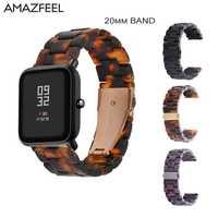 20mm żywica pasek do zegarków dla Huami Amazfit Bip bransoletka z paskiem do Samsung Galaxy aktywny Garmin Forerunner 645 Vivoactive 3 HR zespół
