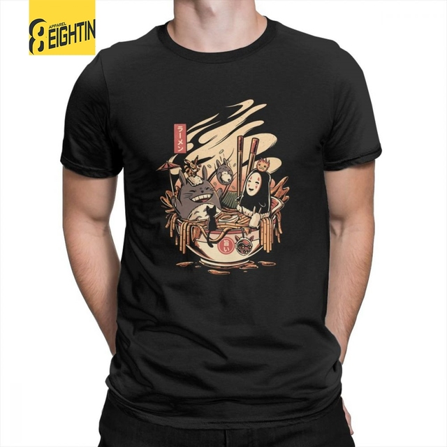 eece73d7061ac Ramen Pool Party Japanese Harajuku Miyazaki Hayao Totoro Cotton T-Shirts  Classic Fit Tee Shirt Mens Funny T Shirts Short Sleeves