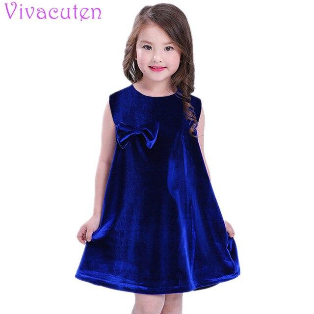 13d493de9a449 US $7.09 |2018 summer Infant Baby Girls Gold velvet Dress Kids Sleeveless  Retro Dress Princess Asymmetrical Dresses 1 5Y-in Dresses from Mother &  Kids ...