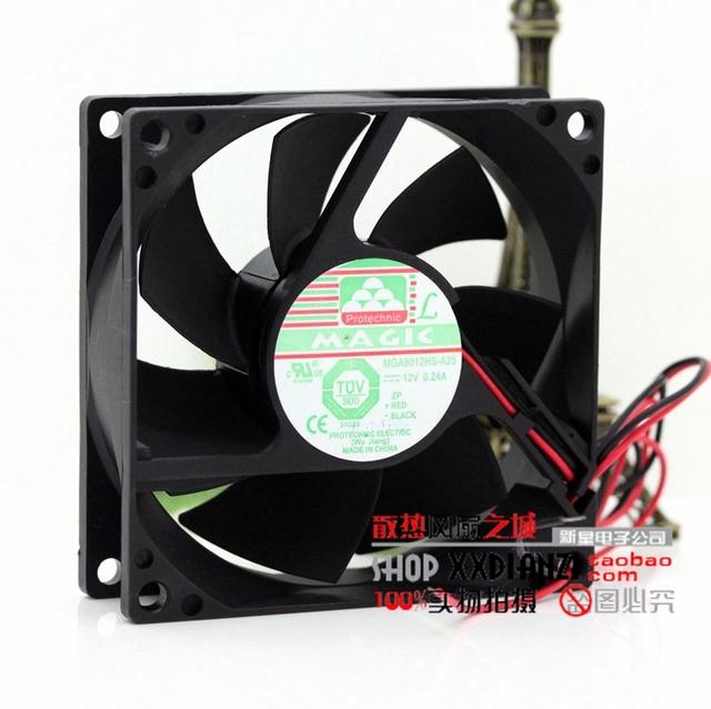 Nueva 8 CM 8025 12 V 0.24A MGA8012HS-A25 chasis fuente de alimentación del ventilador de refrigeración