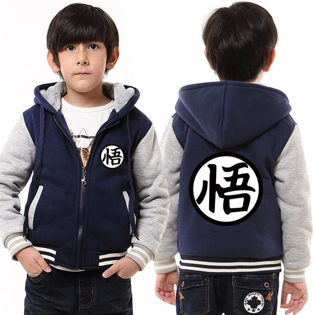 Dropshipping Winter Dragon Ball Z Hoodie for Kids New Arrival Goku Hooded Sweatshirt Boy and Girl thicken Fleece thermal Coat 1
