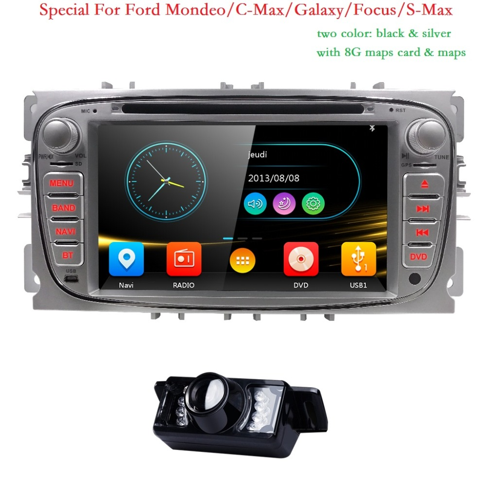 2 Din Car Radio Car DVD Player For Ford Focus 2 3 C S Max Mondeo Galaxy 2008 2009 2010 2009 2010 Multimedia Audio Ipod SWC BT 3G