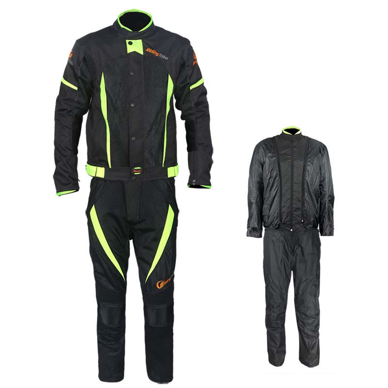 Motorcycle Summer Waterproof Liner Mesh Breathable Out Jacket Pants OXFORD Racing Reflective Moto Protective Gears Jackets