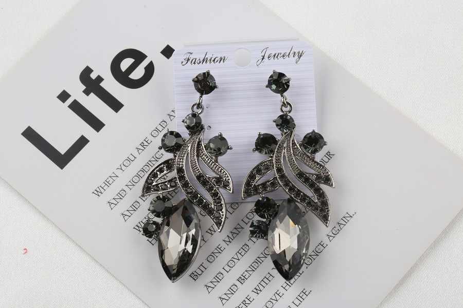 VEYO Plant shape Crystal Drop Earrings Trendy Earrings for Women Fashion Jewelry 3 Colour New Arrival