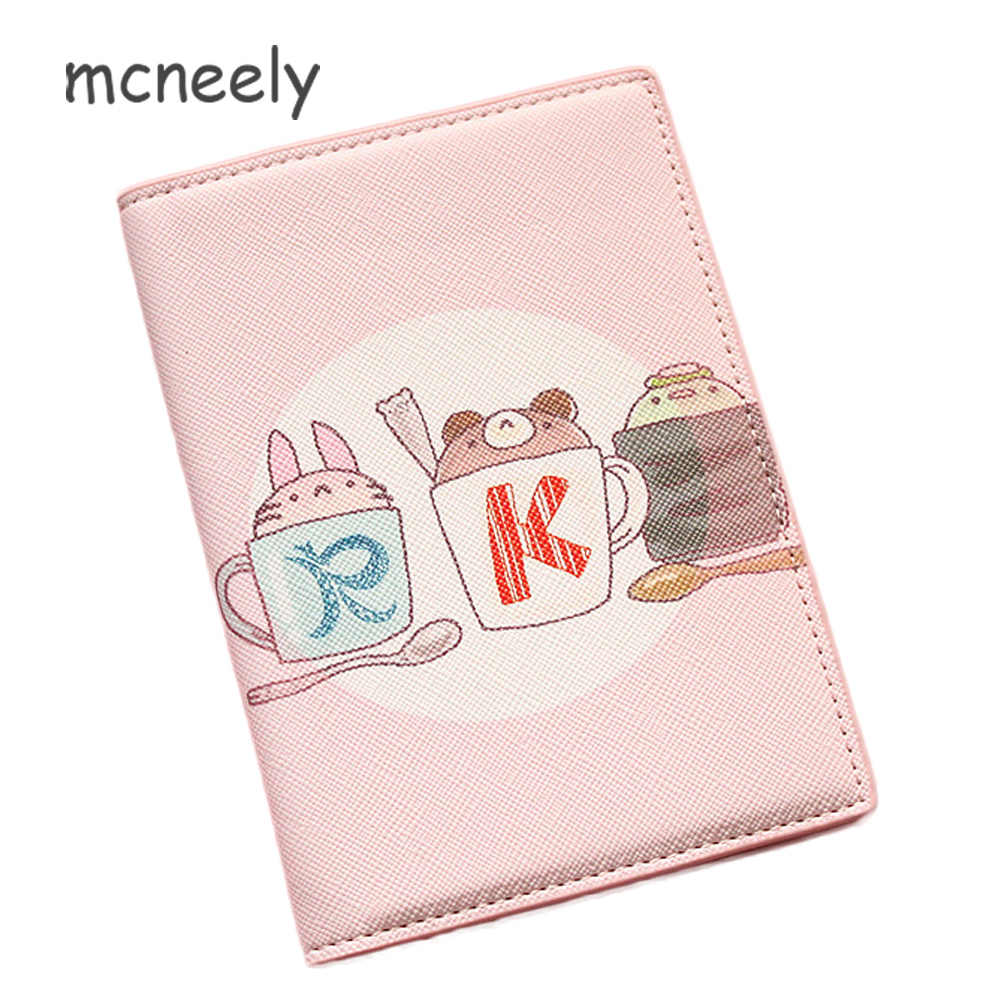 6faf28dd5 Mcneely Children Leather Passport Cover Case Travel Passport Holder Bag  Women Business Card Holder Purse Retro