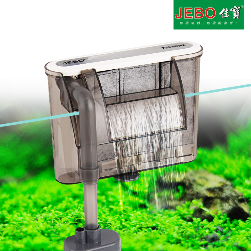 Jebo 3w external aquarium filter waterfall water pumps for Pond pump filter sponge