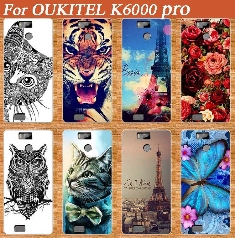 Pro OUKITEL K6000 pro Pouzdro na telefon, DIY, malované roztomilé Krásný Kočka Lion Rose Flower Malované pouzdro Pro OUKITEL K6000 pro zadní kryt