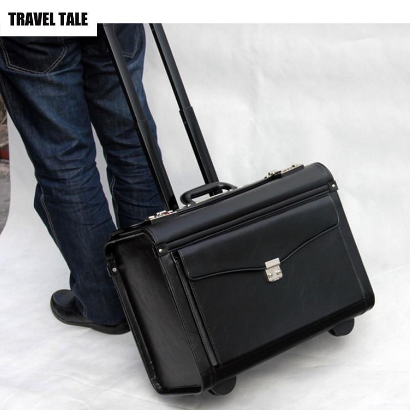 Capitano di VIAGGIO TALE compagnia aerea trolley valigia bagaglio a mano di affari bagaglio a mano per cabina-in Valigia a rotelle da Valigie e borse su  Gruppo 1