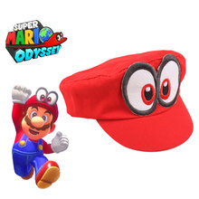 2019 Super Mario Hat Red Odyssey Cap Halloween Party Wearable Baseball Caps Unisex Adjustable Cotton Costume Wholesale