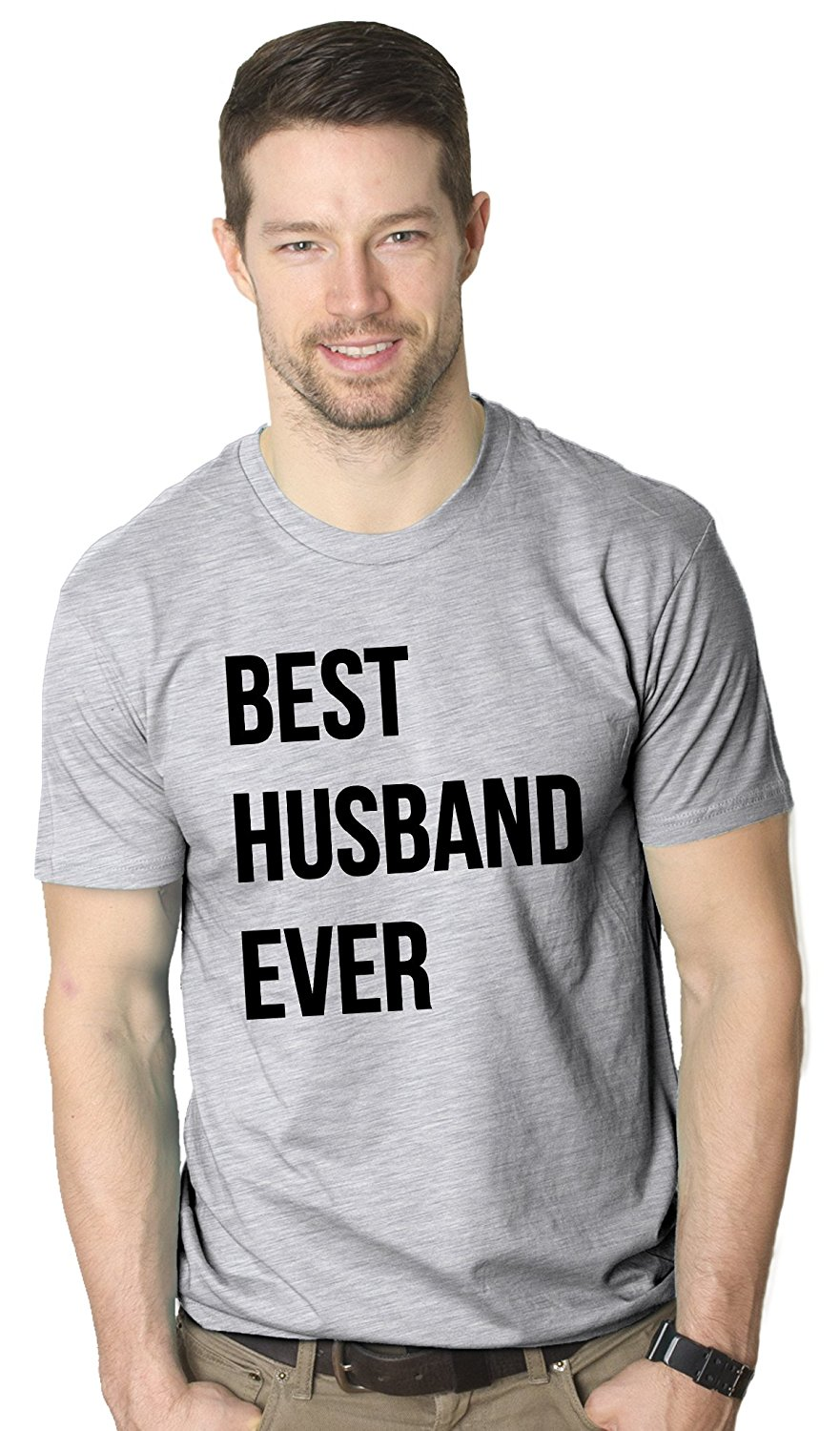 Mens Best Husband Ever T Shirt Funny T Shirts for Dad Fathers Day Gift Sarcasm Wedding
