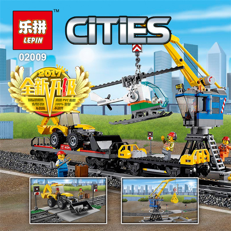 Lepin 02009 City Genuine Heavy-Haul Train Set cPcs Building Blocks Bricks Educational Toys Gifts Compatible with lego 60098 shirly new rest stop dream house building blocks compatible with lego bricks girl s educational toys birthday christmas gifts