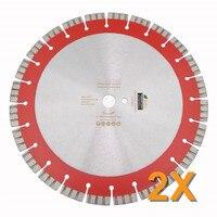 DIATOOL 2 шт. диаметром 14 лазерной сварки Алмазный диск отрезной диск для железобетонных высокий профессиональный Turbo сегменты пилы