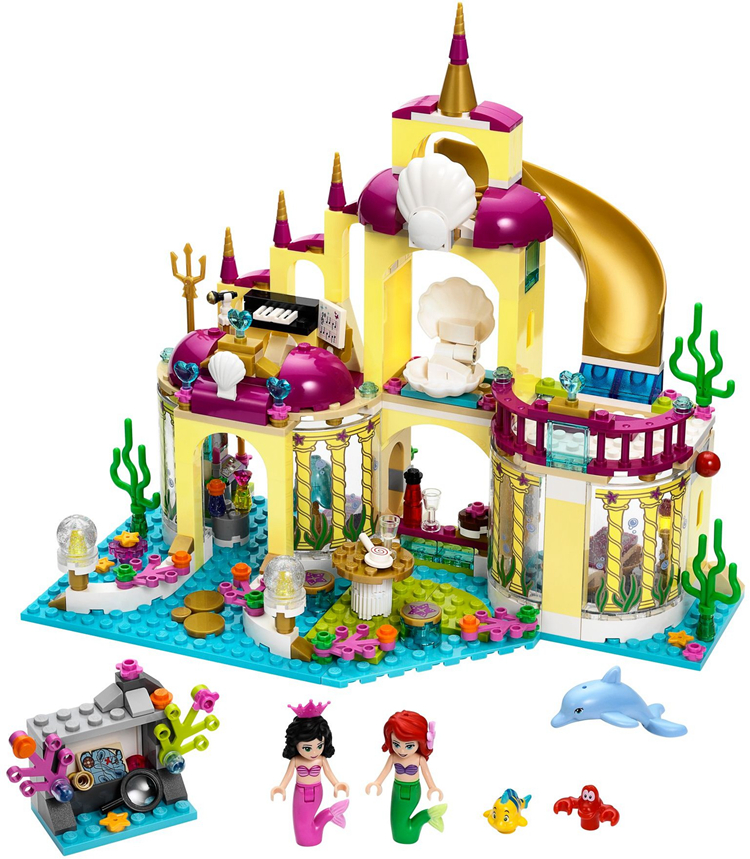 AIBOULLY 2017 New SY374 400Pcs Princess Undersea Palace Model Building Kits minis Blocks Bricks Girl Toy Gift brinquedos new phoenix 11207 b777 300er pk gii 1 400 skyteam aviation indonesia commercial jetliners plane model hobby