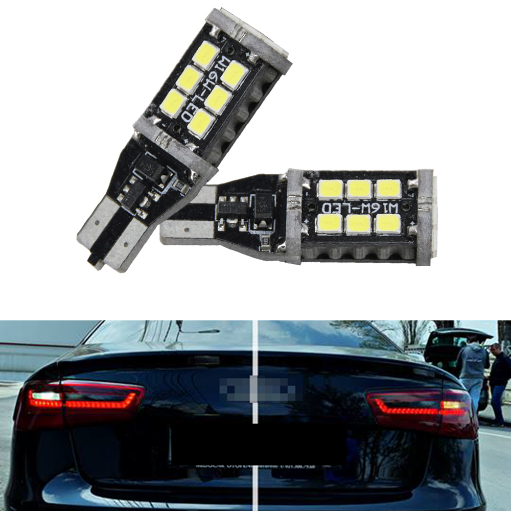 2x <font><b>LED</b></font> Bulbs T15 W16W For <font><b>Audi</b></font> <font><b>A6</b></font> <font><b>C7</b></font> 4G PreFL (2014) Canbus 2835 SMD White Reverse Lights 800LM image
