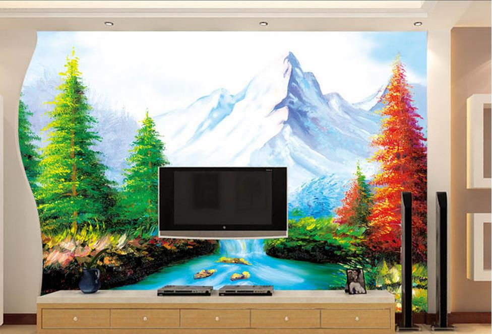 Custom Wallpaper Papel De Parede HD 3d Landscape Painting Design 3d Mural  Wallpaper 3d Wall Paper For Room In Wallpapers From Home Improvement On ... Part 61