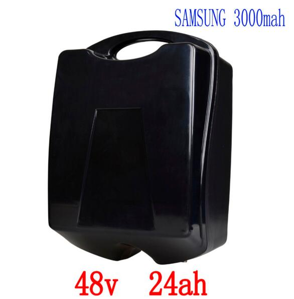 Rechargeable 48V 1000W Lithium Battery 48V 24AH Electric Bike Battery Use for samsung 3000mah cell with 30A BMS 54.6V 2Acharger free customs duty 1000w 48v battery pack 48v 24ah lithium battery 48v ebike battery with 30a bms use samsung 3000mah cell