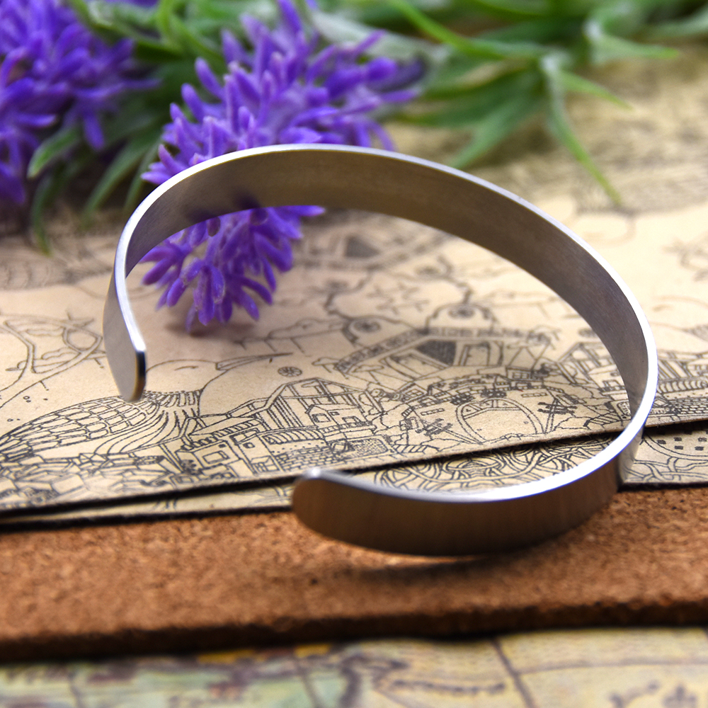 Stainless Steel Cuff Bracelet My Hero Wears Kevlar For Women Men Handmade Bangle Inspirational Jewelry Gift China Import Goods In Bangles From