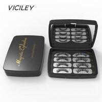 VICILEY 3D накладные ресницы на магнитах с 3 магнитами Накладные ресницы ручной работы Ресницы 4 шт. набор для макияжа глаз SCT09-5