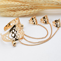 New Fashion Gold Plated Metal Beads Totem Slave Chain Bangles Bracelets for Women Arm Cuff Fashion Jewelry