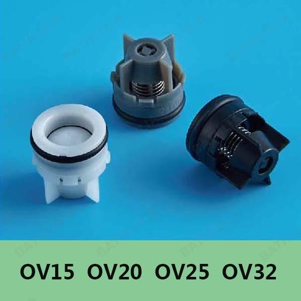 OV15 OV20 OV25 OV32 Water Control Valve Non Return Shower Head Water Check  Valve ABS Bathroom Water Saving Plastic Check Valve In Aerators From Home  ...